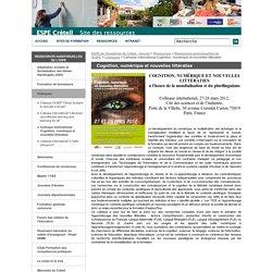 Colloque international Cognition, numérique et nouvelles littératies