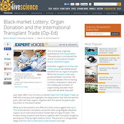 Black-market Lottery: Organ Donation and the International Transplant Trade