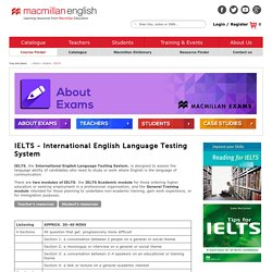 IELTS (International English Language Testing System) Exam Details - Macmillan English