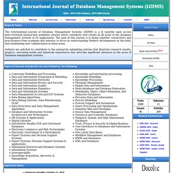 International Journal of Database Management Systems (IJDMS)
