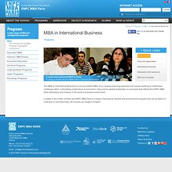 International business | ENPC School of International Management