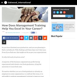 How Does Management Training Help You Excel In Your Career?