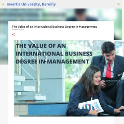 The Value of an International Business Degree in Management