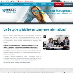 Master of Science International Business Management
