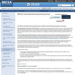 MESA International - Smart Manufacturing Working Group