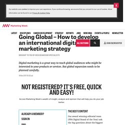 How to develop an international digital marketing strategy