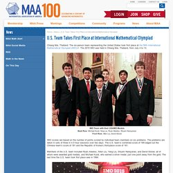 U.S. Team Takes First Place at International Mathematical Olympiad