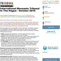 International Monsanto Tribunal in The Hague - October 2016