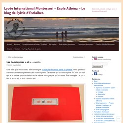 «Lycée International Montessori – Ecole Athéna – Le blog de Sylvie d'Esclaibes.