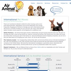 International Pet Movers - Air Animal