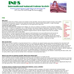 FAQ - INHS International Natural Hygiene Society