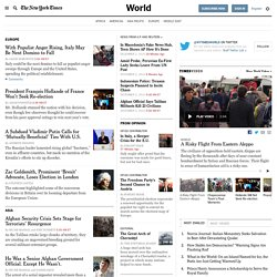 International News - The New York Times