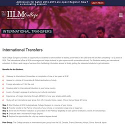 BBA Degree with International Transfers Opportunity