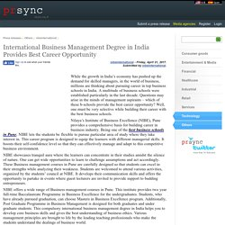 International Business Management Degree in India Provides Best Career Opportunity