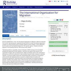 12.19 - The International Organization for Migration: Challenges, Commitments, Complexities, 1st Edition