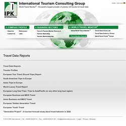 IPK International: IPK International: Travel Monitor Reports - Travel Data Reports, Travel Data, Outbound travel data, Inbound travel data, World Travel Monitor, European Travel Monitor