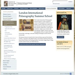 London Palaeography Summer School