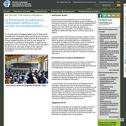 Le Partenariat mondial pour l'éducation renforce son soutien aux enseignant(e)s