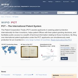 PCT – The International Patent System