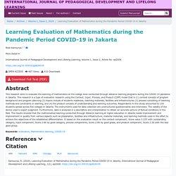 International Journal of Pedagogical Development and Lifelong Learning