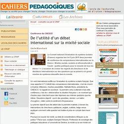 De l'utilité d'un débat international sur la mixité sociale