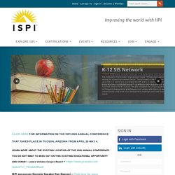 International Society for Performance Improvement