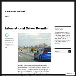 International Driver Permits