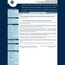 Le cadre juridique international de la protection des données personnelles