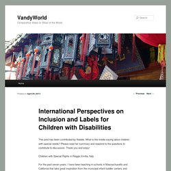 International Perspectives on Inclusion and Labels for Children with Disabilities