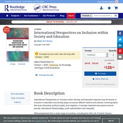 International Perspectives on Inclusion within Society and Education -