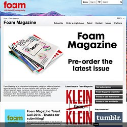 Foam International Photography Magazine