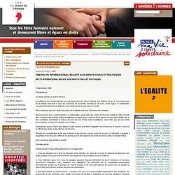 1966 PACTE INTERNATIONAL RELATIF AUX DROITS CIVILS ET POLITIQUES