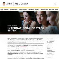 International Portfolio Entry