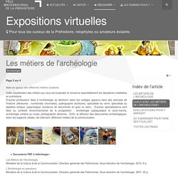 Pôle International de la Préhistoire - Les métiers de l'archéologie
