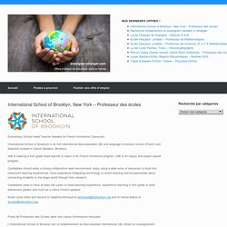 International School of Brooklyn, New York – Professeur des écoles