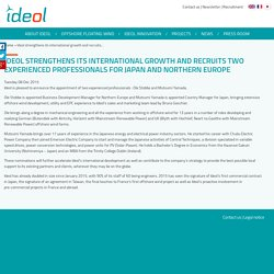 Ideol strengthens its international growth and recruits two experienced professionals for Japan and Northern Europe