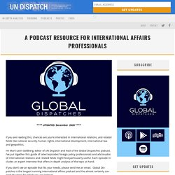 A Podcast Resource for International Affairs Professionals