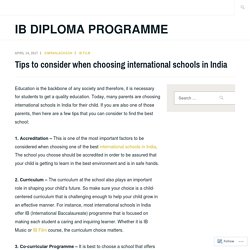 Tips to consider when choosing international schools in India