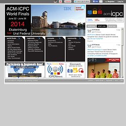 The ACM-ICPC International Collegiate Programming Contest