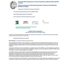 International Symposium psychiatry and Internet