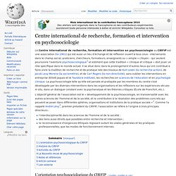 Centre international de recherche, formation et intervention en psychosociologie