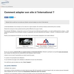 Comment adapter son site à l'international ?