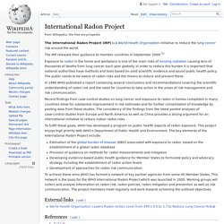 International Radon Project