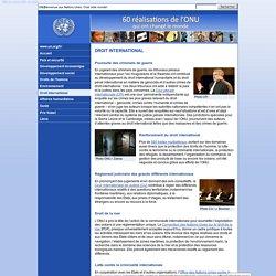 Droit international - 60 réalisations de l'ONU qui ont changé le monde