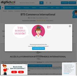 BTS Commerce International (BTS CI) - Référentiel commun