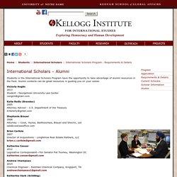 International Scholars Program - Requirements & Details