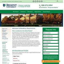 University - International Students - Admission Requirements