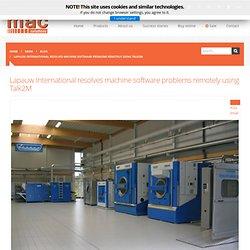Lapauw International resolves machine software problems remotely using Talk2M