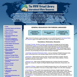 WWW Virtual Library: International Affairs Resources