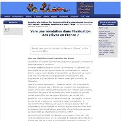 Lien International d'Éducation Nouvelle : Vers une révolution dans l'évaluation des élèves en France?
